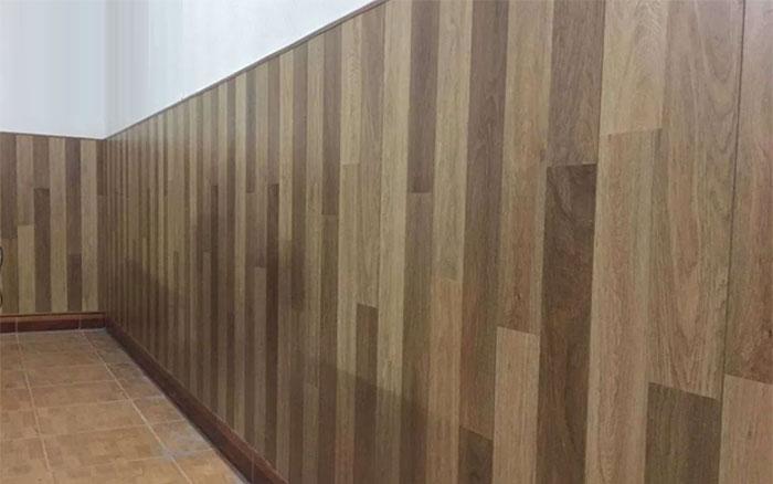 sàn nhựa ốp tường