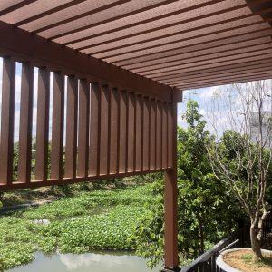 Lam gỗ nhựa HD40x90-2S Red Coffee