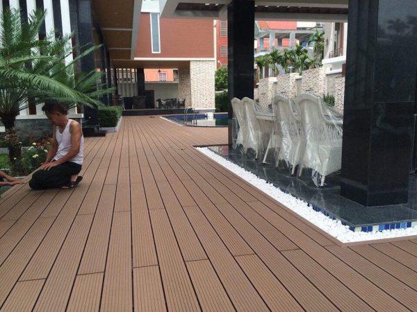 Lam gỗ nhựa HD140x25 Wood hình 1