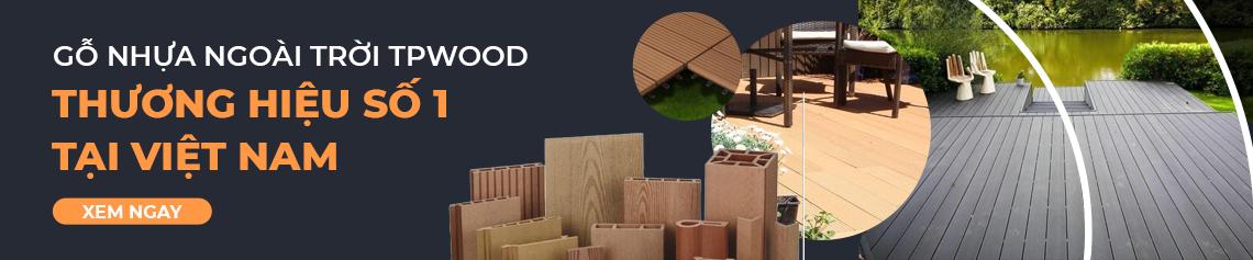 Banner gỗ nhựa ngoài trời