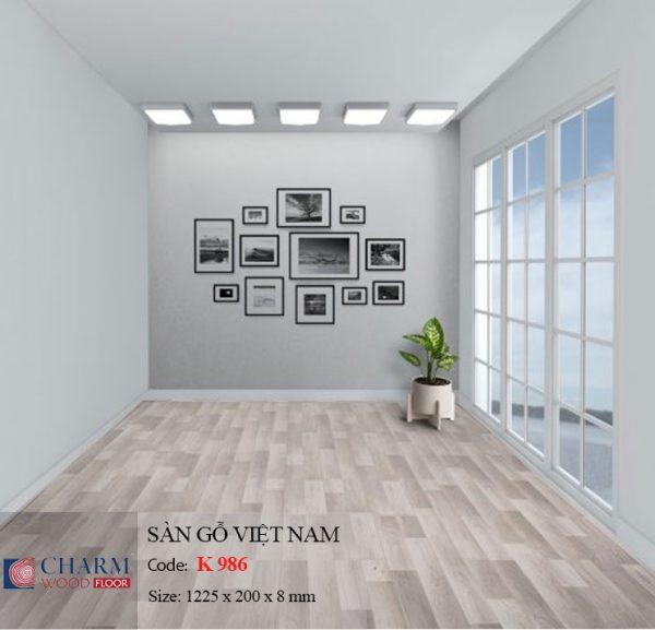 sàn gỗ charmwood K986 hình 2