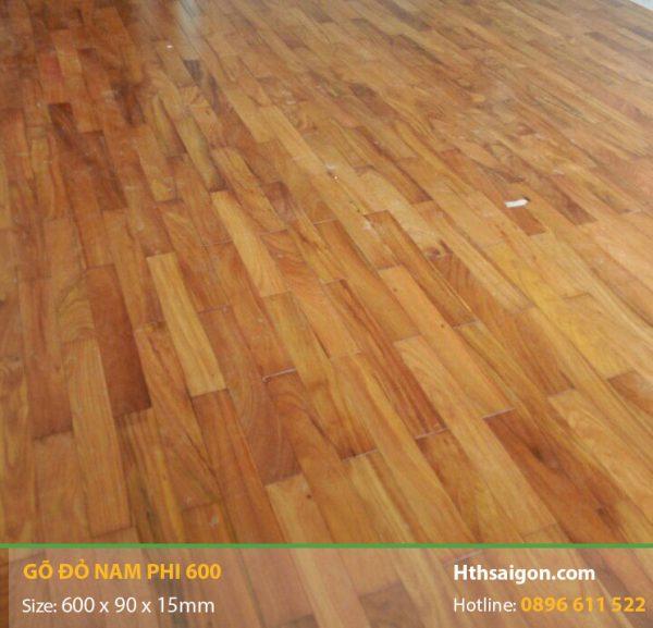 Sàn gỗ Gõ Đỏ 600 hình 1