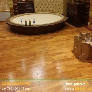 Sàn gỗ Gõ Đỏ hình 750