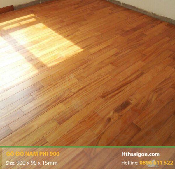 Sàn gỗ Gõ Đỏ hình 1