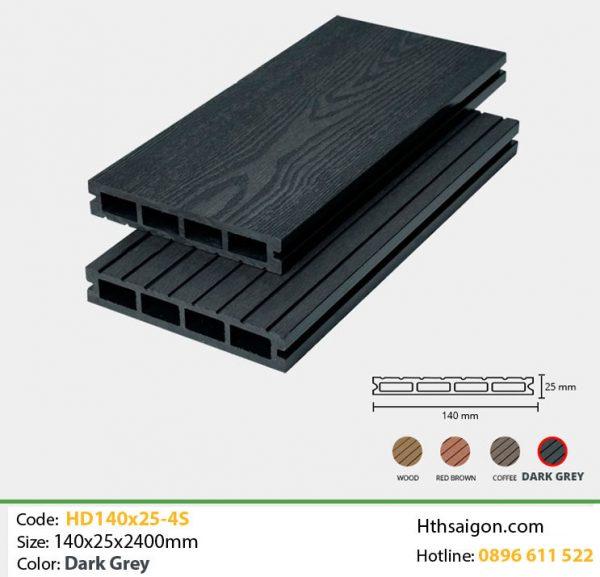 Gỗ nhựa HD140-25-4s Dark Grey hình 1