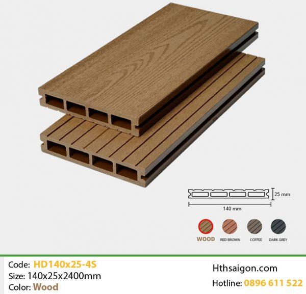 Gỗ nhựa HD140x25-4s Wood hình 1