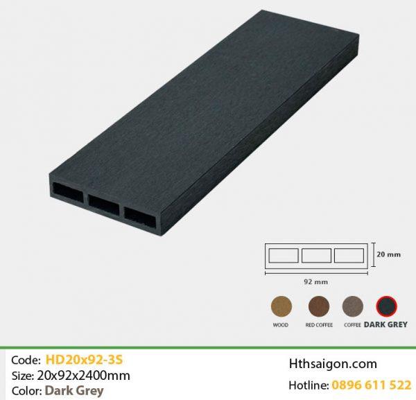 Thanh lam HD20x92-3S Dark Grey