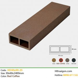 Thanh lam HD40x90-2S Red Coffee