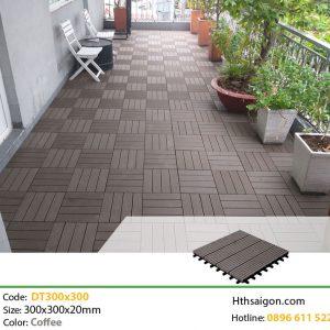 Vỉ gỗ nhựa DT300x300 Coffee hình 1
