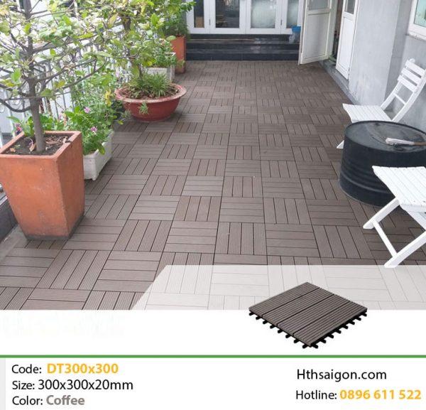 Vỉ gỗ nhựa DT300x300 Coffee hình 2
