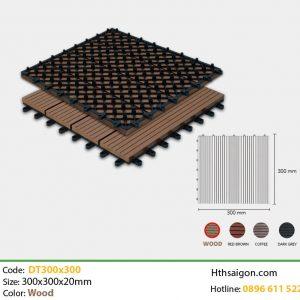 Vỉ gỗ nhựa DT300x300 Wood hình 1