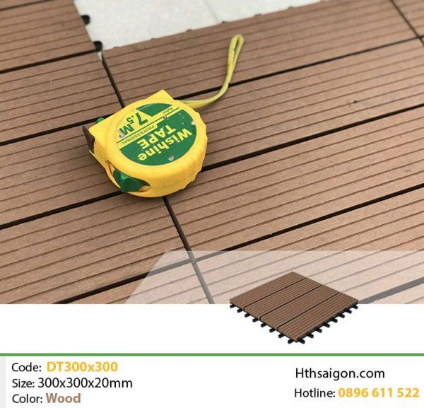 vỉ gỗ nhựa DT300x300 wood hình 2