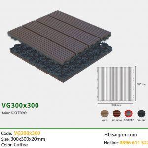 Vỉ gỗ nhựa VG300x300 Coffee hình 1