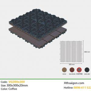 vỉ gỗ nhựa VG300x300 coffee hình 2
