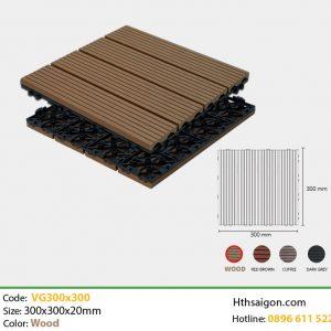 Vỉ gỗ nhựa VG300x300 Wood hình 1