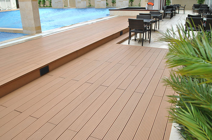 chất liệu sàn gỗ nhựa ngoài trời