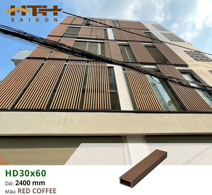 Hình ảnh lam che nắng mặt tiền gỗ nhựa TPWood