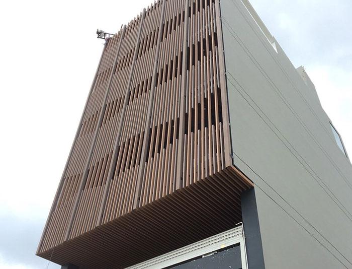 Hình ảnh lam che nắng mặt tiền gỗ nhựa WPC