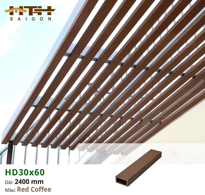 Ảnh mẫu lam che nắng sân thượng HD30x60 Coffee