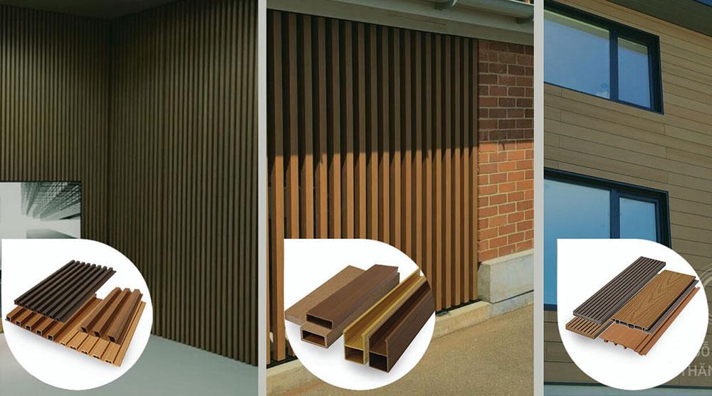Thanh lam gỗ nhựa trang trí