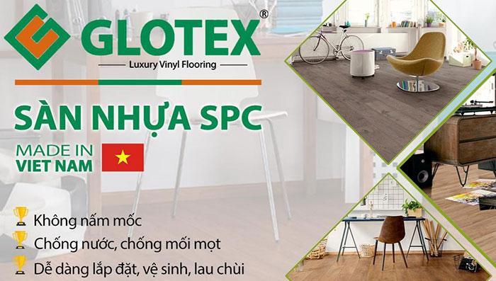 sàn nhựa giả gỗ Glotex SPC