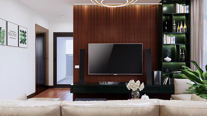 Tấm ốp lam sống ốp tường trang trí phòng khách