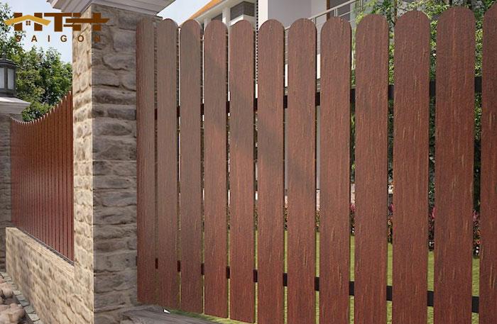 Ảnh hoàn thiện hàng rào gỗ nhân tạo Conwood sau khi sơn phủ
