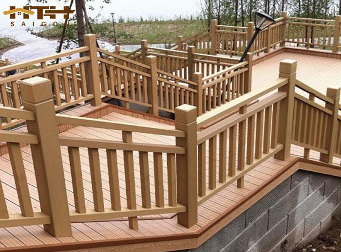 hàng rào cầu thang gỗ nhựa WPC